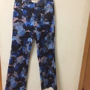 Anthropology elevenses Floral Brighton Pants